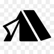 露营帐篷图标
