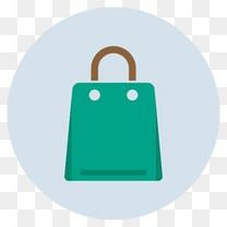 袋讨价还价电子商务零售销售购物平面设计图标(设置1)