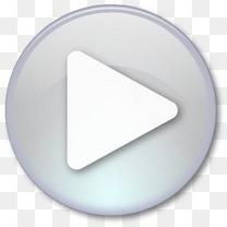 灰色的play播放按钮图标