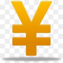 黄色的人民币符号图标