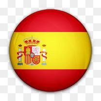 国旗对西班牙世界标志图标