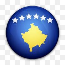 国旗科索沃对世界标志图标