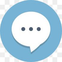 泡沫聊天通信消息圆形图标