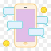 泡沫聊天通信移动智能手机谈小东西的光芒
