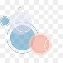 粉色蓝色圆环图片