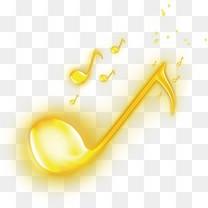 金色音符音乐图标