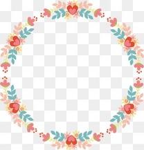 花纹底纹花环