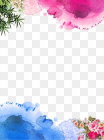水墨牡丹边框背景图