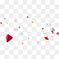 唯美精美漂浮气球丝带彩带折纸元宝装饰