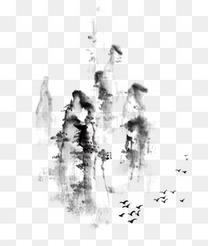 中国风山水水墨