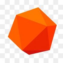 橙色扁平图案