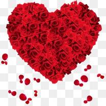 玫瑰花束心形礼盒