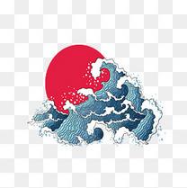 日本海上红日卡通画