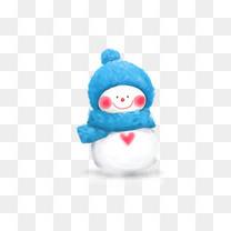 蓝帽子雪人