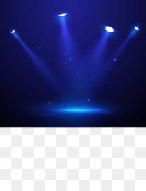矢量梦幻蓝色舞台灯光