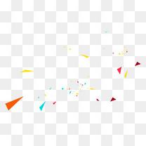 彩色漂浮碎片