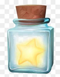 发光星星玻璃许愿瓶