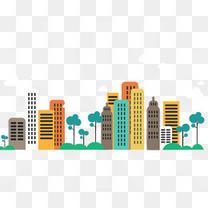抽象化的城市楼房