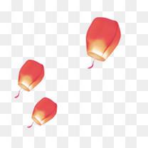 漂浮的红色灯笼