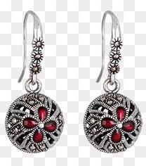 红色珠宝耳环