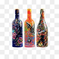 插画酒瓶瓶子