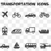 简约交通运输工具图标矢量素材