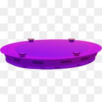 紫色圆形舞台