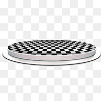 黑白方格圆形舞台灯光