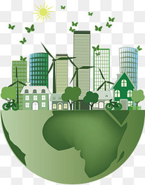 矢量爱护地球节能环保