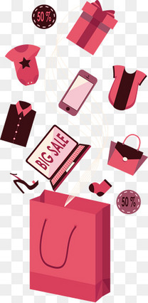矢量购物袋与礼盒