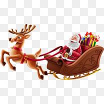 坐着雪橇的圣诞老人