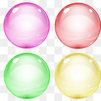 四个彩色泡泡