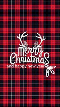 红黑格子圣诞背景