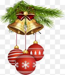 圣诞节铃铛与圣诞球
