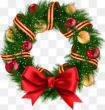 圣诞球与花环