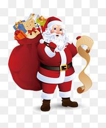 装满礼物的圣诞老人素材