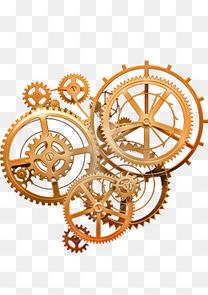 金色时间齿轮组装机器