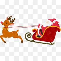 圣诞鹿雪橇
