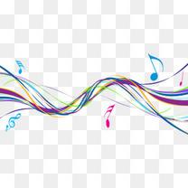 动感时尚音符曲线素材