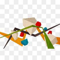 各种不规则几何体组成的图案