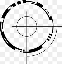 黑色卡通箭靶设计