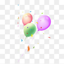 彩带漂浮颗粒气球