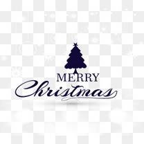 白色光效背景圣诞快乐艺术字