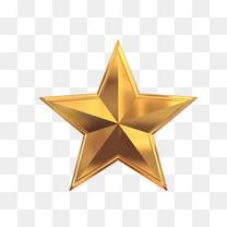 金属五角星设计图标免扣素材
