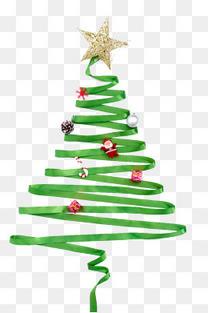 绿色彩带圣诞树