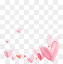 粉色桃心免扣素材