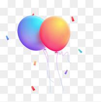 多彩气球漂浮物节日