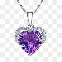 紫色的钻石项链