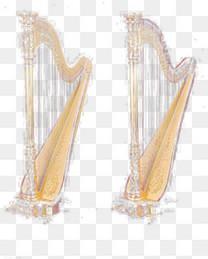 竖琴漂浮免抠素材素材