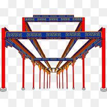 北京颐和园的长廊柱子